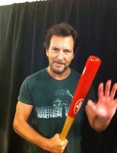 Eddie Vedder and bat