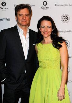 Colin Firth and Kristin Davis