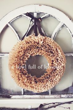 How to make a coffee filter wreath | A Bowl Full of Lemons