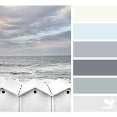 Trendy Ideas for bath room colors schemes design seeds Design Seeds, Paint Themes, Paint Color Schemes, Beach Color Schemes, Beach Color Palettes, Seeds Color Schemes, Color Palette Gray, Colour Gray, Paint Color Palettes