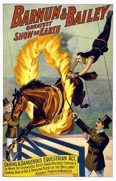 BARNUM & BAILEY POSTER 1920S | Цирковые плакаты и афиши -Эстетика ...