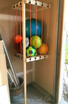 s the newest diy space saving storage ideas to keep your home organized, Garage Ball Storage