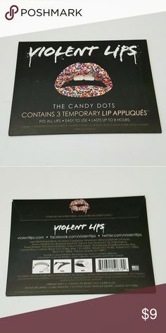 "Violent Lips ""Candy Dots"" Lip appliques ▪Brand New - Never used/unopened ▪3 Lip appliques per pack Makeup Lipstick"