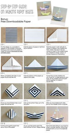 How to make paper boats for nautical anchor birthday parties and baby showers. #paperboats #anchors #nauticalparty