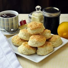 Lemon Sour Cream Tea Biscuits - Light, airy, little lemon tea biscuits that would be right at home at an afternoon tea or weekend brunch.