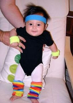 """I know a toddler who is wearing this for Halloween!  Her leotard says """"Feel the Burn"""" in iron-on letters, and she is wearing rainbow leg warmers."""