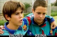 Young Victor Valdes & Pepe Reina (Spain)