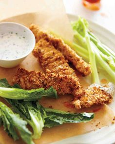 Crunchy Chicken Tenders with Herb-Buttermilk Dressing Recipe