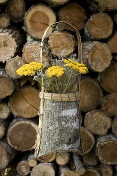 I LOVE my Appalachian tree bark berry basket - an old folk art.  Fabulous textures!