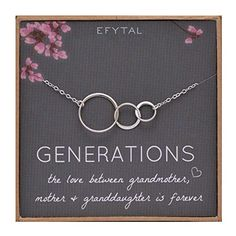 EFYTAL Generations Necklace for Grandma Gifts - Sterling Silver Mom Granddaughter Mothers Day Jewelry. Title: EFYTAL Generations Necklace for Grandma Gifts - Sterling Silver Mom Granddaughter Best Mothers Day Gifts, Grandma Gifts, Mother Gifts, Gifts For Mom, Best Gifts, Christmas Gifts For Grandma, Christmas Fun, Xmas, Birthday Gifts For Her
