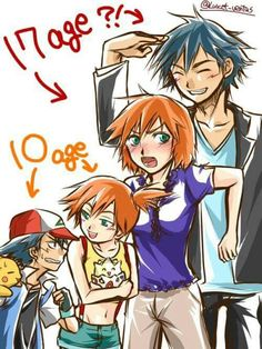 Beautiful ♡ Pokeshipping throughout the years ^.^ ♡ I give good credit to whoever made this