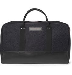 WANT Les Essentiels de la Vie Dulles Leather-Trimmed Tweed Holdall Bag | MR PORTER