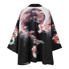 Kimono Cardigan, Kimono Animé, Haut Kimono, Gilet Kimono, Kimono Jacket, Samurai Costume, Traditional Japanese Kimono, Japanese Geisha, Japanese Dragon