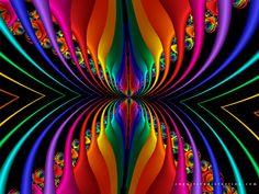 Stripes Rainbow Kaleidoscope.