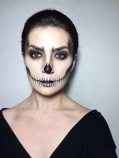 Halloween skull makeup   #makeup #skull #halloween