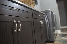 Laundry room featuring the Verona cabinet hardware pulls in Satin Nickel. Hardware Pulls, Cabinet Hardware, Verona, Laundry Room, Satin, Flooring, Home, Design, Decor
