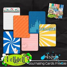 Disney free journaling cards - good for project life