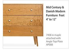 Create the retro look with Mid-Century and Danish Modern Furniture Feet