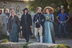 Eleanor Tomlinson, Aidan Turner, Luke Norris and Gabriella Wilde are all smiles on the set of Poldark, Season Poldark Tv Series, Poldark Cast, Poldark Season 4, Demelza Poldark, Ross Poldark, Will Turner, Aiden Turner, Air Max 90, Nike Air Max