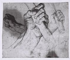 Study of a hand holding a baton - Ingres Fondation Louis Vuitton, Figure Sketching, Figure Drawing, Drawing Lessons, Drawing Techniques, Rembrandt, Feet Drawing, Anatomy For Artists, Sketch 2