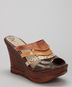 Take a look at this Passarela Brazil Terra Snakeskin Leather Wedge Sandal on zulily today! Leather Wedge Sandals, Wedge Shoes, Shoe Closet, Shoe Game, Snake Skin, Me Too Shoes, Fashion Shoes, Shoe Boots, Footwear