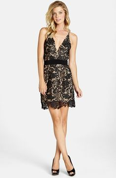 Dress the Population 'Ava' Lace Minidress available at #Nordstrom