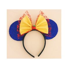 Snow White Inspired Mouse Ears by ShopHouseOfMouse on Etsy