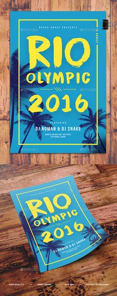 Rio Olympic Minimal Flyer Template PSD. Download here: https://graphicriver.net/item/rio-olympic-minimal-flyer-/17381431?ref=ksioks