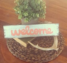 Welcome by TheRusticMelonDesign on Etsy