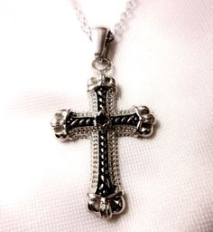 """Cross Stainless Steel Pendant comes with 20"""" Stainless Steel Chain  #SkipaBeat #Chain"""