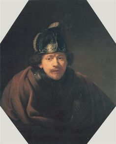 Self-portrait with Helmet - Rembrandt  - Completion Date: 1634