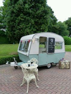 Vintage caravan, Thomson Mimi Glen, retro, classic, restored,