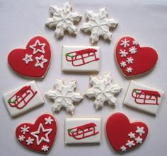christmas cookies snowflake heart