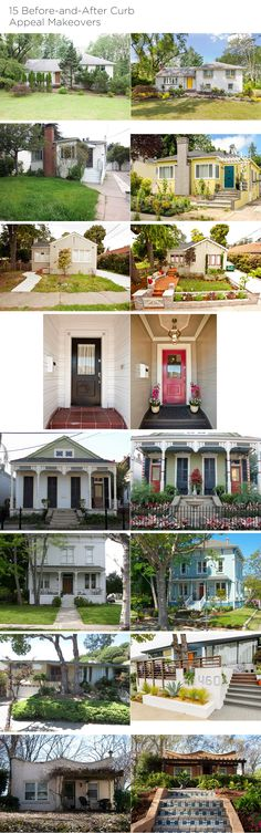 "15 Before-and-After Curb Appeal Makeovers | So. Awesome. (the realist in me does recognize the professionally edited ""after"" photos. but these are still some great examples!!) Seriously...click through to see the larger version of these photos!!"