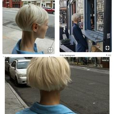 New Hair Cuts Unique Blondes Ideas Blond Haircut, Short Blonde Haircuts, Short Hair Cuts, Short Hair Styles, Haircut Short, Hair Inspo, Hair Inspiration, Biolage Hair, Hair 2018