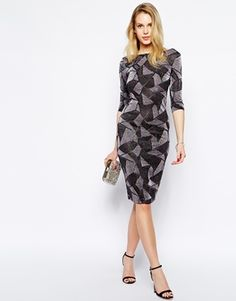 Enlarge Selfish by Forever Unique Galaxy Metallic Body-Conscious Dress