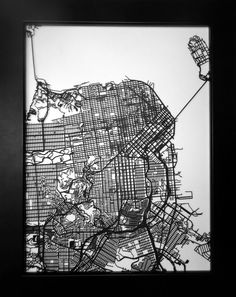 Cleveland Ohio Laser Cut Street Map Modern Art Custom