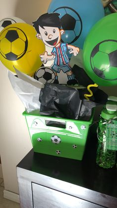 Soccer party center piece