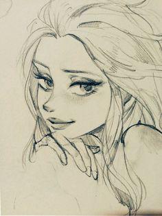 Girly Drawings, Art Drawings Sketches Simple, Pencil Art Drawings, Cartoon Drawings, Sketch Art, Cartoon Art Styles, Art Sketchbook, Cute Art, Character Art