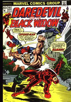 Daredevil #103, September 1973, cover by Don Heck and John Romita - villain Ramrod
