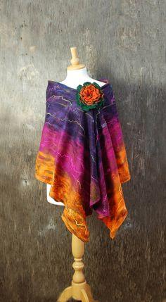 Hey, I found this really awesome Etsy listing at https://www.etsy.com/listing/242798448/nuno-felted-scarf-felt-scarf-felted