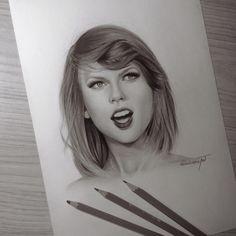 "pedrolopesart: ""Drawing Taylor ❤️❤️ I'm addicted to draw it! 😂💕 @taylorswift @taylorswift @taylorswift "" @taylorswift 💕"