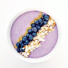 Blueberry Coconut Pudding - It's packed full of healthy fats and omegas, and the coconut water makes it super hydrating.