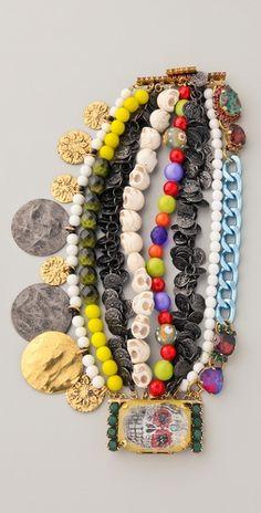 erickson beamon skulls bracelet..