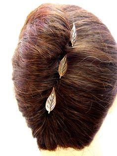 leaf hair pins
