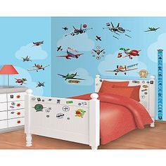Muursticker Planes Disney Decor Kit