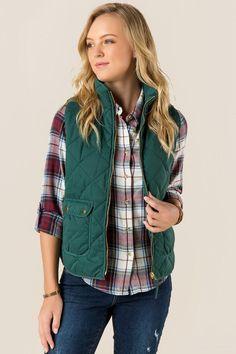 Everett Sueded Puffer Vest