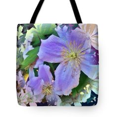 Clematis Pop Art Tote Bag for Sale by Anna Porter