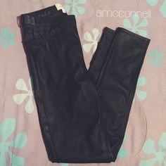 Chic Pleather Pants Worn only once but they are too big. The size is s. Pants Straight Leg