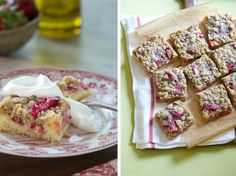 Rhubarb Strawberry Crumb Bars | Rhubarb Recipes